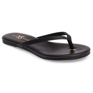 NEW Yosi Samra Rivington Black Flip Flop Sandals 7